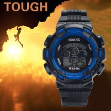 Sports Watches Alarm Date LED Fashion 30M Waterproof Silicone Band Wristwatches Clock Deportivo Homb