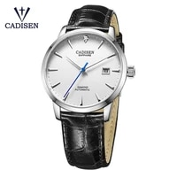 new cadisen business automatic watch men stainless steel waterproof mechanical watch luxury brand male clock for man gift c8097m