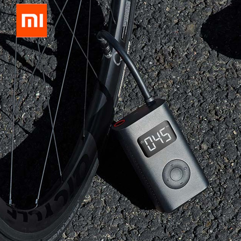 شاومي Mijia المحمولة الذكية الرقمية ضغط الإطارات كشف الكهربائية نافخة مضخة للدراجات النارية سيارة كرة القدم ، في المخزون