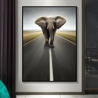 africa elephant animal landscape canvas painting cuadros posters print wall art for living room home decor no frame