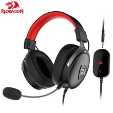 Игровые наушники Redragon H520 с микрофоном и шумоподавлением, 7,1, USB, 3,5 мм, компьютерная гарнитура с объемным звучанием, наушники, контроллер EQ для P