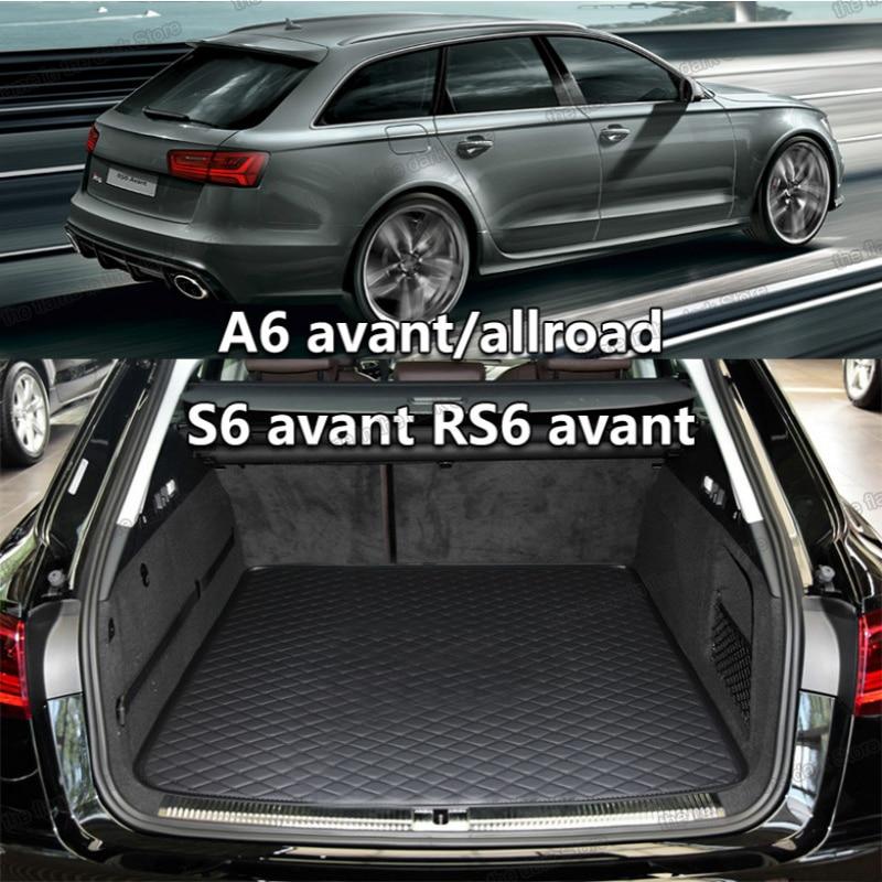 lsrtw2017 leather car trunk mat cargo liner for audi a6 c6 avant s6 rs6 c5 c7 2020 2019 2018 2017 2016 2015 2014 accessories