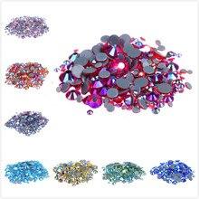 Verre en cristal multi-couleurs AB   Strass Super lumineux, Strass Hotfix, fer sur les Strass pour vêtement en tissu