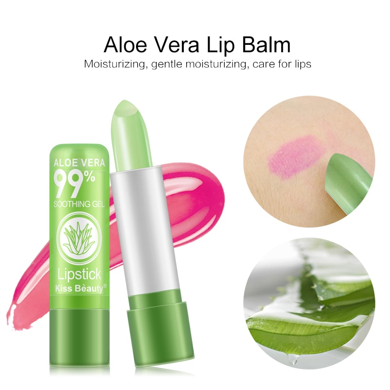 3.5g Matte Lipstick Color Mood Changing Long Lasting Moisturizing Lip Balm Set Aloe Vera  Is Not Easy To Fade TSLM1