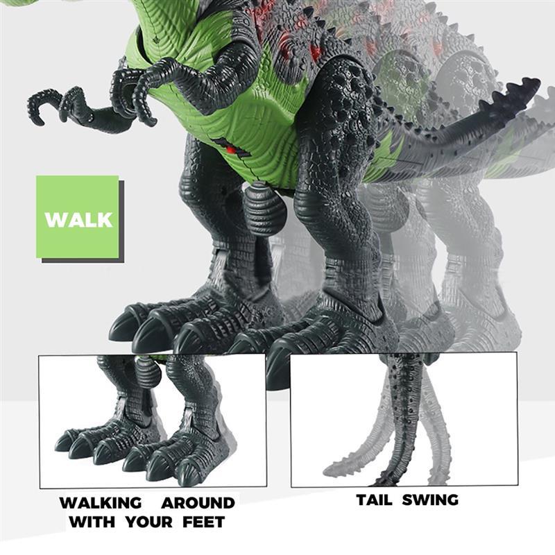 5pcs/set Dinosaur Robot Model RC Dinosaur Tyrannosaurus Rex Animal Remote control Sounds Dinobot Electric Walking Animals Toy enlarge