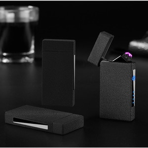 Induction Double Arc Lighter Windproof Creative Charging Cigarette Lighter Electric Lighter Usb Plasma Lighter Bbq Smoking