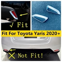 abs chrome rear bumper fog lamps lights frame kit cover trim exterior refit kit accessories for toyota yaris 2020 2021