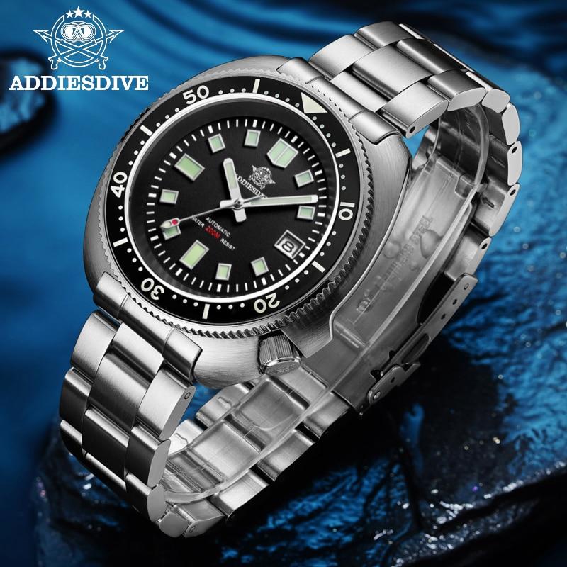 التلقائي ساعة الرجال الياقوت الكريستال الفولاذ المقاوم للصدأ C3 BGW9 مضيئة NH35 الميكانيكية ساعة رجالي 1970 200 متر الغوص ساعة الرجال