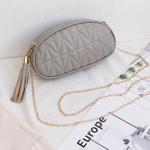 Womens New Korean Style Tassel Pillow Head Bag Ladieshand Bag Fashion One-Shoulder Diagonal Mobile Phone Bag