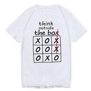Think Outside The Box Funny T-shirts Men T Shirts Brand Fashion Mens Tshirts Summer Tee Shirt Men Hip Hop Fashion Casual