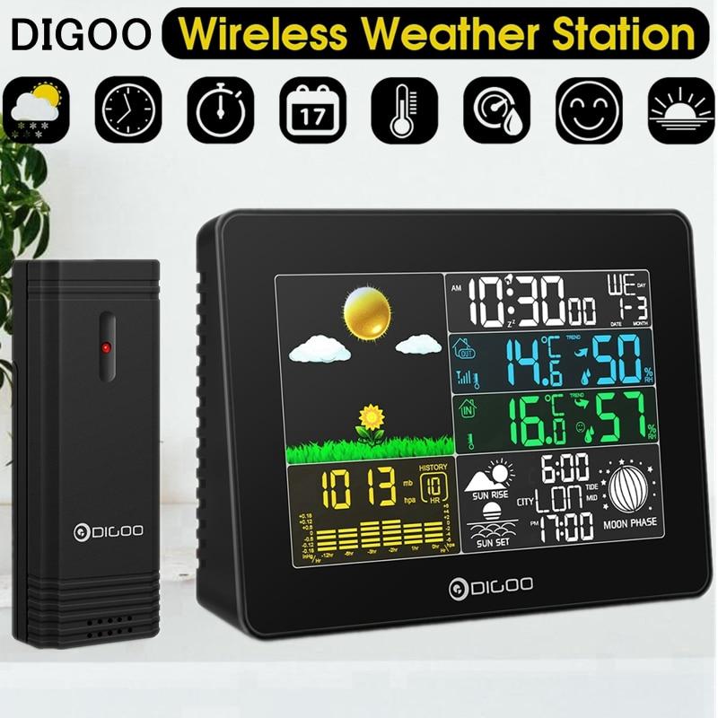 Indoor ao ar Livre sem Fio Sensor de Temperatura Digoo Digital Estação Meteorológica Instrumentos Higrômetro Termômetro Relógio Dg-th8868