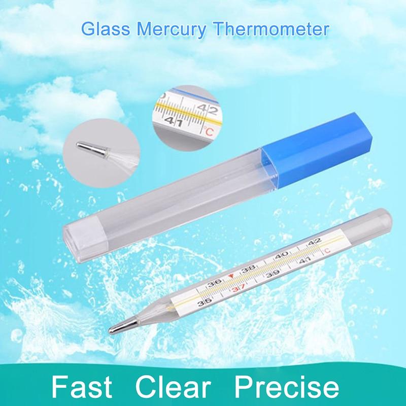 1pc Body Temperature Measurement Device Armpit Glass Mercury Thermometer Home Health Care Product La