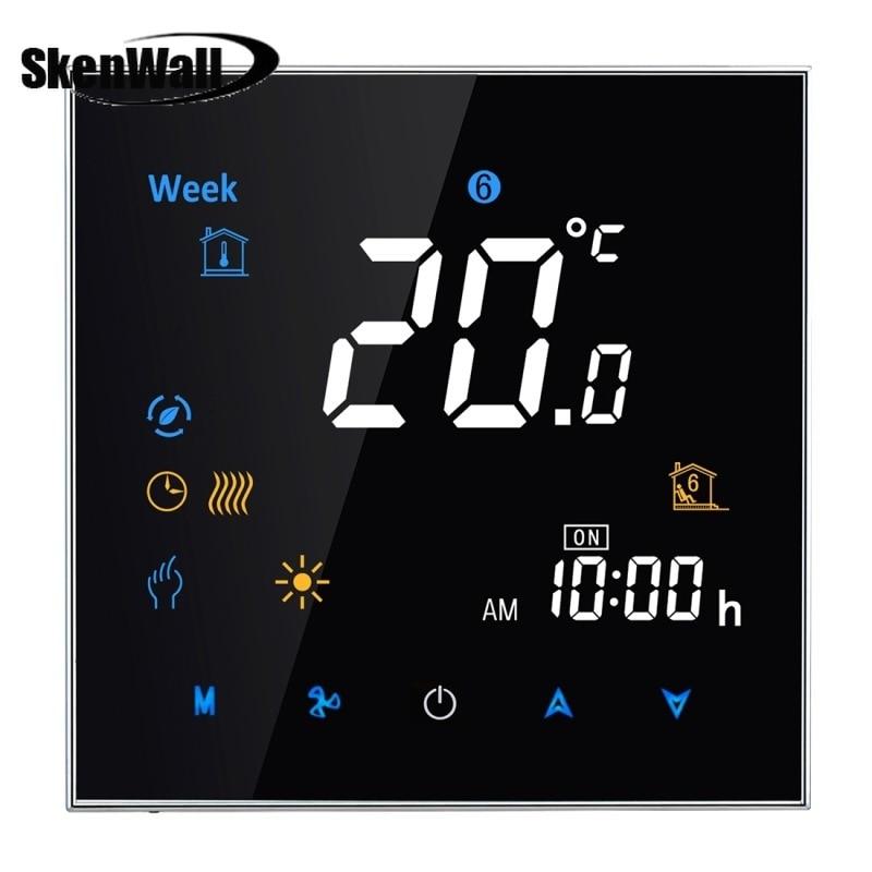 16A carga de tipo de calefacción electrónica LCD termostato de habitación de calefacción Digital Interruptor táctil inteligente, visualización de temperatura/semana/calor