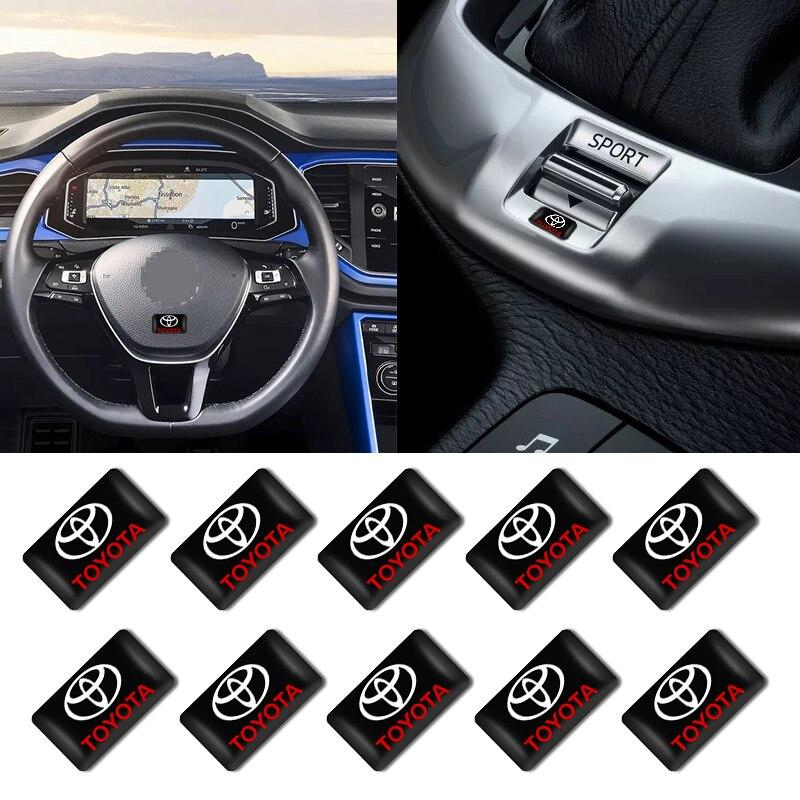 10 Uds etiqueta engomada del coche decorativo pequeño dirección distintivo para el...
