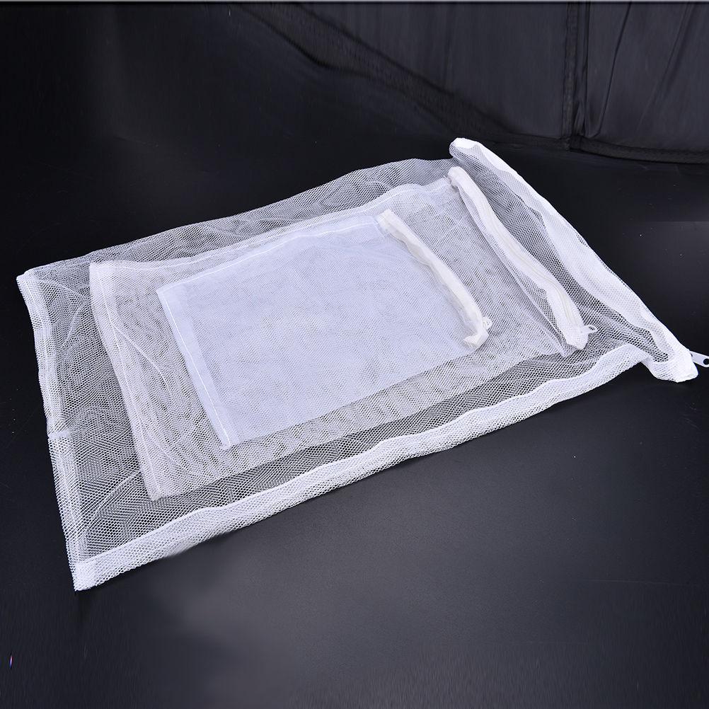 White 1Pcs Isolation Bag Aquarium Fish Tank Pond Filter Mesh Bag Net For Bio Ball Carbon Media Ammonia Bag