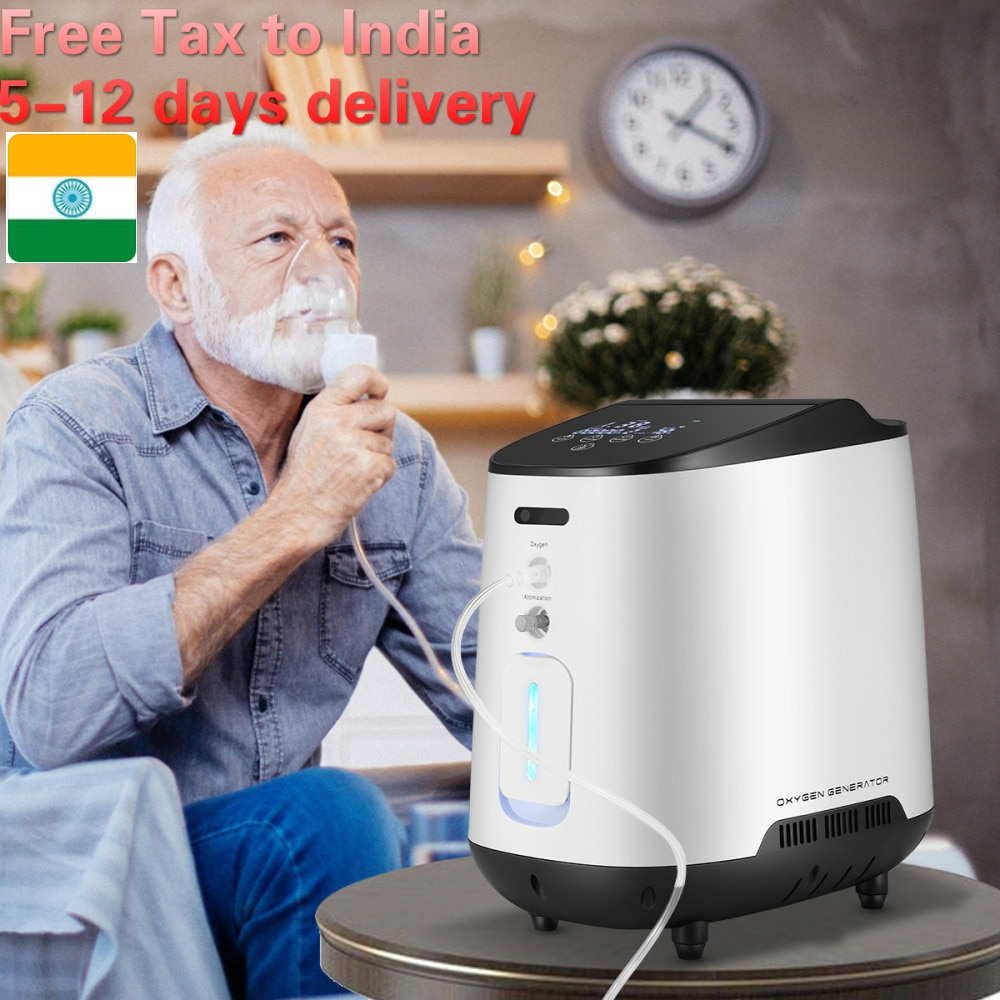 1 6l min portable oxygen concentrator home travel use generator no battery air purifier for home with handle 24 hours working TTLIFE 1-7L/min Y-105W Home Air Purifier Oxygen Concentrator Oxygen Generator Health Care Portable Oxygenation Making No Battery
