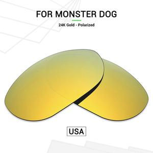 Mryok POLARIZED Replacement Lenses (from USA) for Oakley Monster Dog Sunglasses 24K Gold