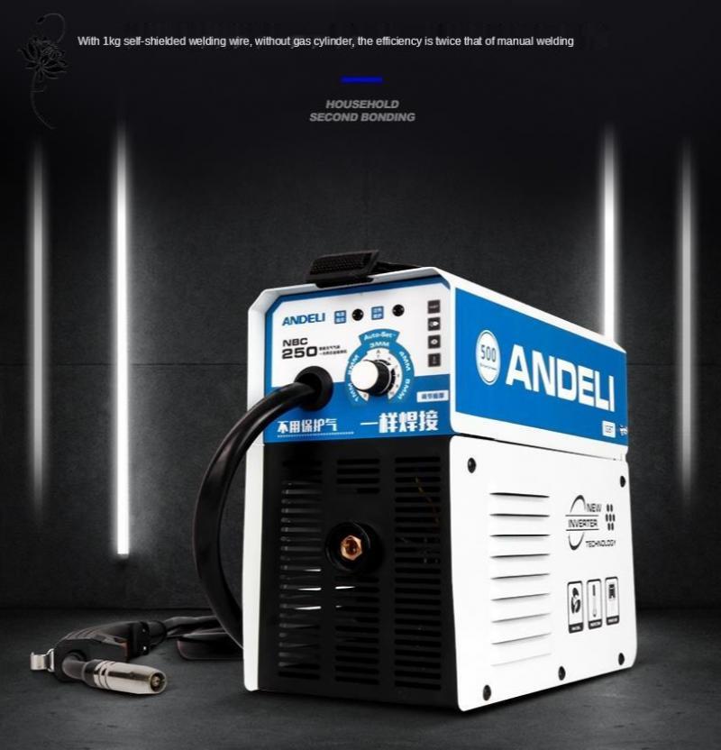 ANDELI الرقمية المنزلية مرحلة واحدة NBC-250 البسيطة لحام آلة لحام دون الغاز الجريان الأساسية سلك العاكس لحام