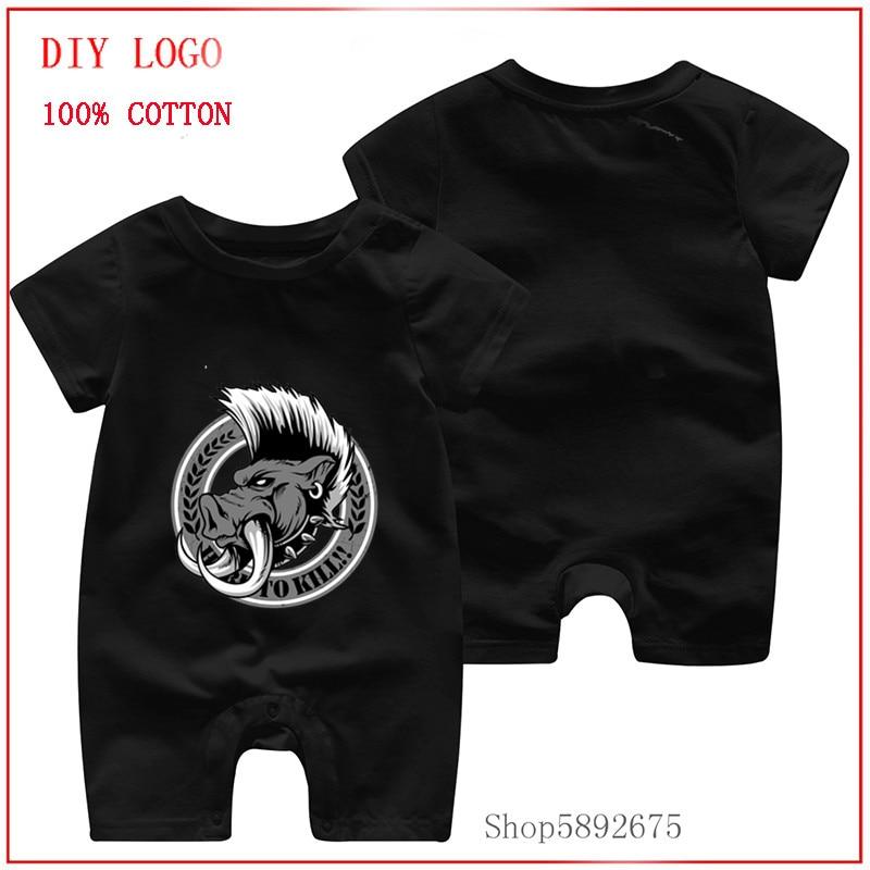 Peleles con estampado bonito de jabalí salvaje para niños, disfraces casuales de algodón pequeños, pijamas aptos para recién nacidos, ropa de niño de 3 a 6 meses, monos