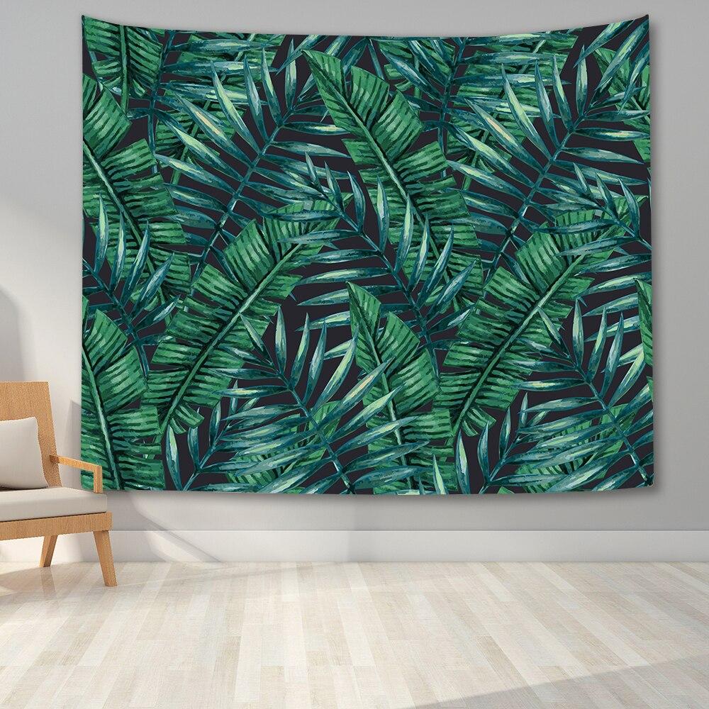 Тропический гобелен настенный пальмовое дерево гобелен с изображение листьев Винтаж гобелен настенный гобелен внешняя часть изготовлена ...