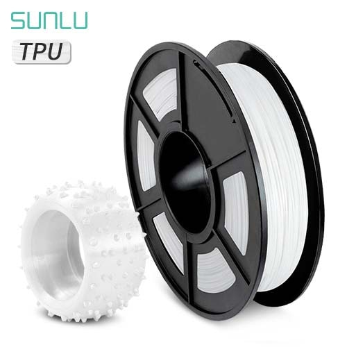SUNLU Material Flexible Filamento de impresora 3D TPU 1,75mm Material 3D tpu 0,5 kg dureza del carrete 100% sin burbujas
