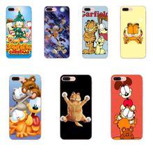 Dla Xiaomi CC9 CC9E Mi 3 4 4i 5 5S 6 6X 8 9 SE grać Plus Pro Lite A1 Mix 2 uwaga 3 TPU przezroczysta osłona śliczne Garfield kot
