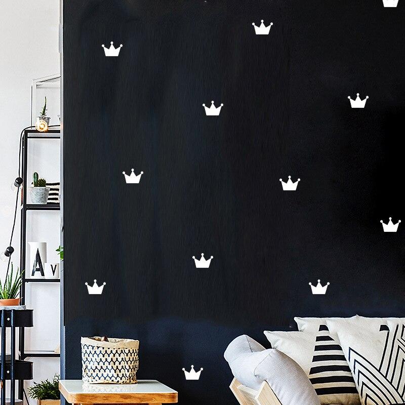 Korona naklejki ścienne na pokoje dla dzieci dekoracja sypialni strona główna salon restauracja akcesoria zdejmowana tapeta dekoracja dla dzieci dziewczyna