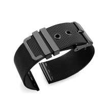 for Samsung Galaxy Watch 40mm Active 20mm Black Stainless Steel Watchbands High Quality Wrist Strap for Amazfit gts