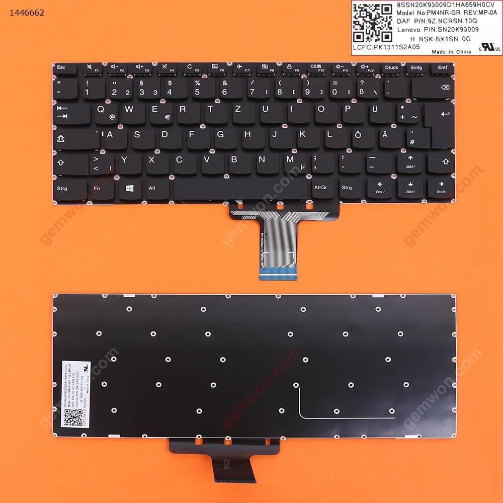 لوحة مفاتيح بديلة جديدة من QWERTZ الألمانية لأجهزة Lenovo Ideapad 310s-14ast 310s-14isk 310s-14ikb 510s-14isk 510s-14ikb كمبيوتر محمول بدون إطار
