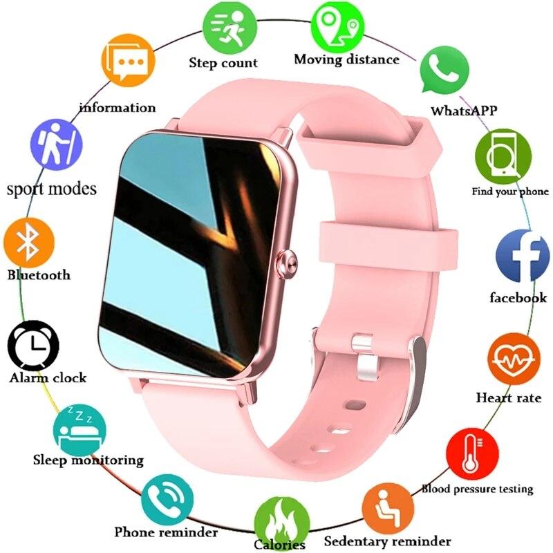 LIGE 2021 New Full Touch Screen Smart Watch Women Sports Heart Rate Waterproof Fitness Smart Watches