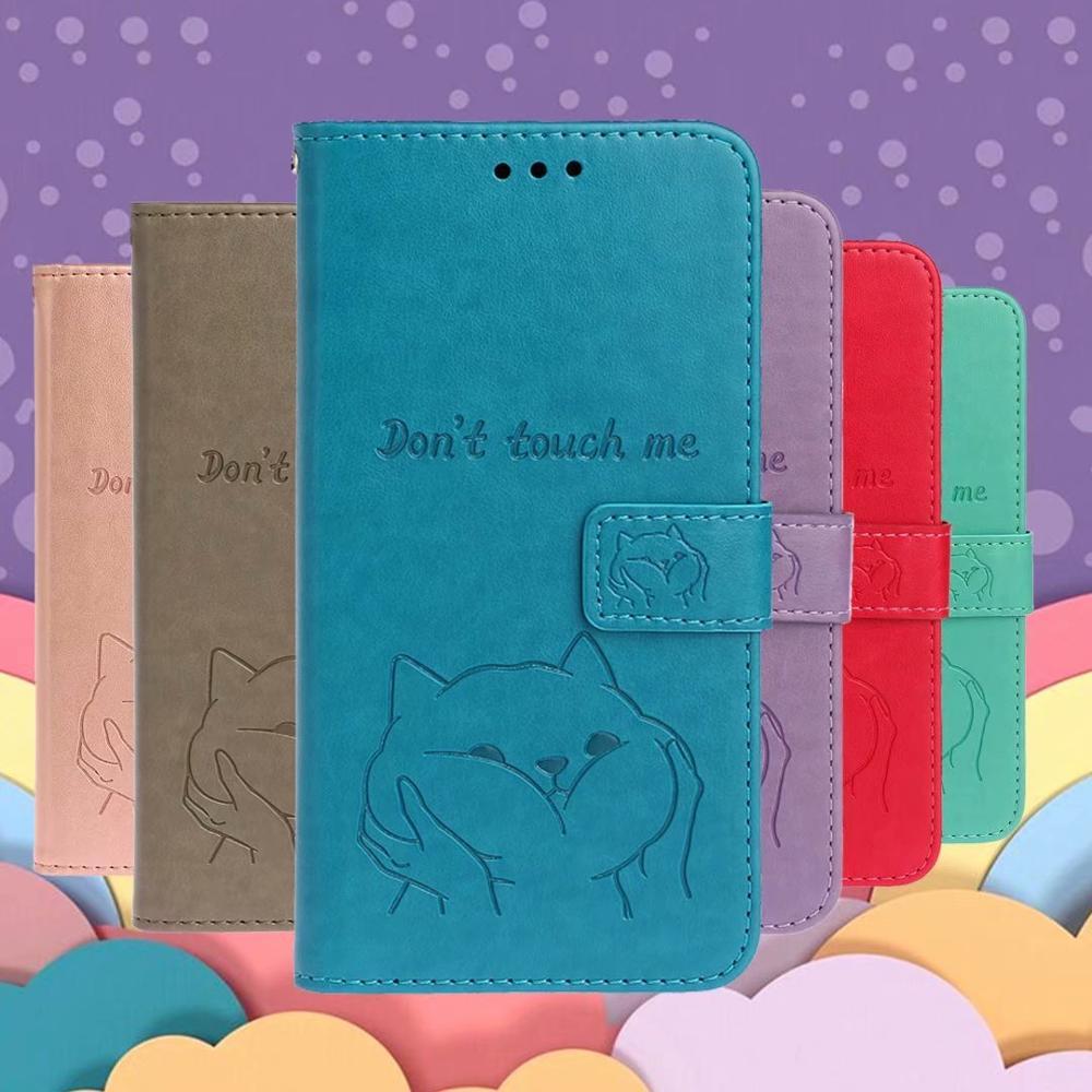 Carteira de cartão do telefone da aleta capa para sony xperiax z3 z4 estojo compacto xz5 x20 couro bonito shiba inu cão padrão