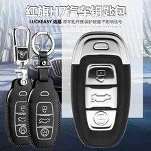 Luckeasy Lederen Klep Voor China Hongqi H7 2013 2015 2017 2018 Auto Sleutel Tas/Case Wallet Holder Key2y