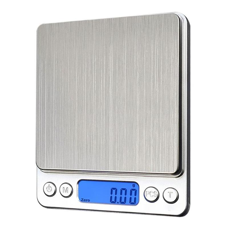 0,01/0,1g báscula Digital LCD de precisión 200/300/1000g Mini báscula electrónica gramos Balanza de peso para hornear té balanza