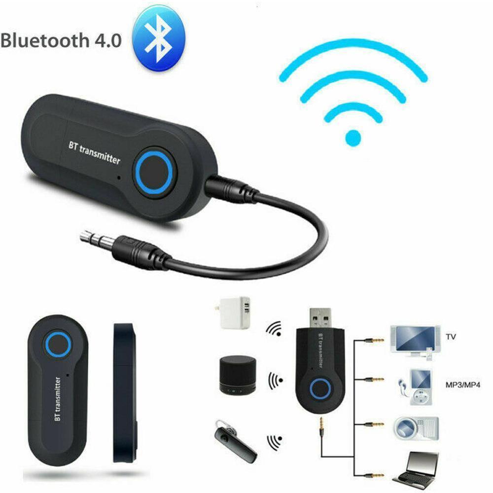 Adaptador receptor Bluetooth 4,1 inalámbrico para coche 3,5mm Jack transmisor de Audio llamada con manos libres teléfono Aux receptor de música TV MP3