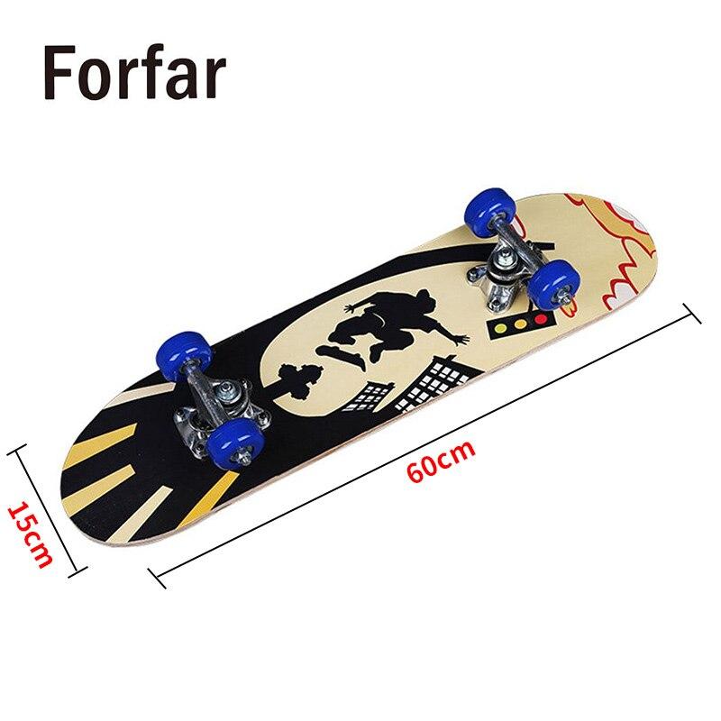 3 Estilo cubierta de skate Longboard snowboard Skateboard solo Deformación de tablero de madera de Longboard pro yecto de moda para los niños adolescentes