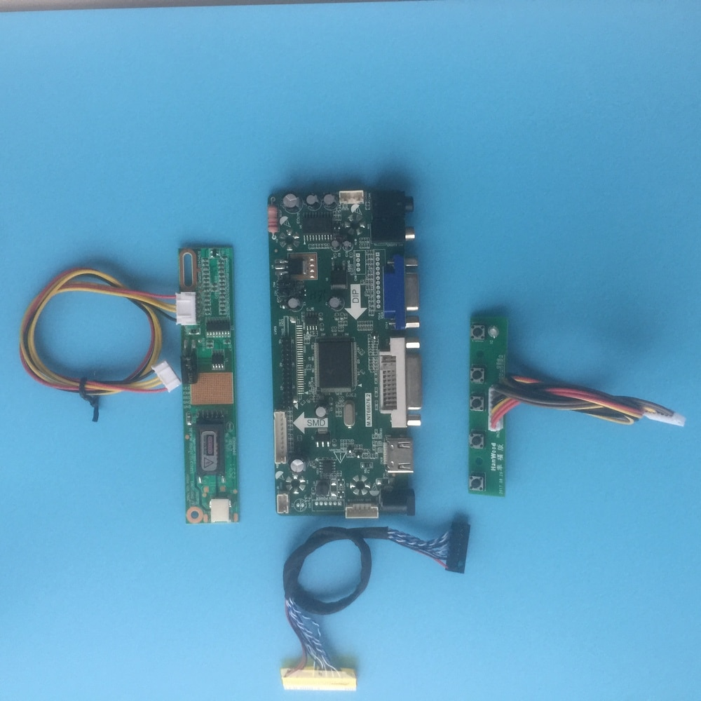 "Kit para LP154WP1 TLA3 controlador de señal de pantalla VGA 15,4 ""placa controladora 30pin 1 lámparas LVDS 1440X900 HDMI DVI Panel monitor"