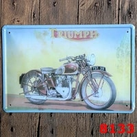 66 route vintage motorcycle 2030cm vintage tin signs retro metal sign antique imitation iron plate painting decor the wall