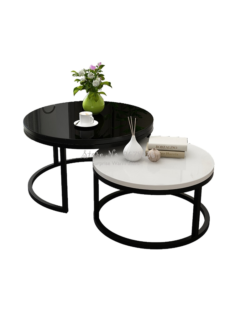 Nórdico Simple de café de madera mesa de salón habitación combinación de...
