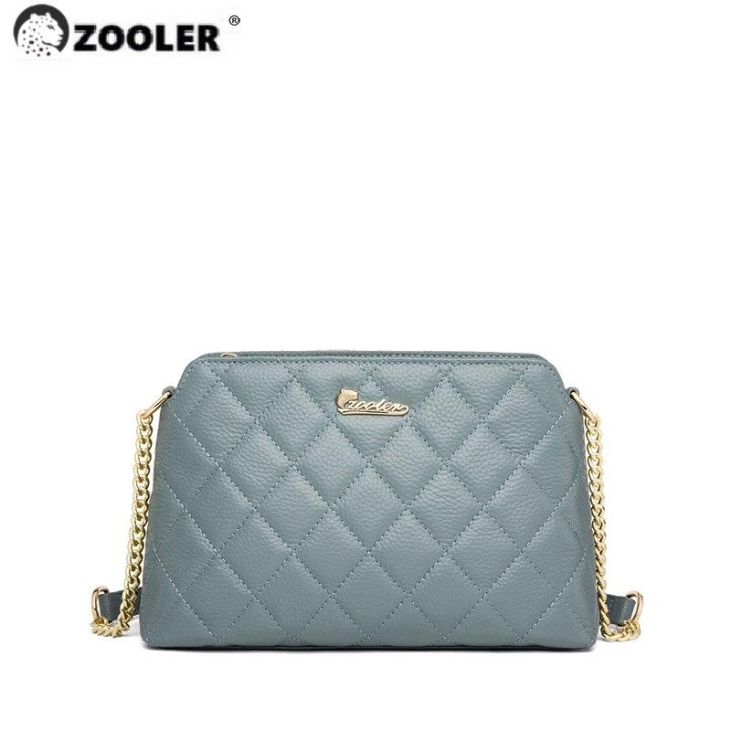 ZOOLER حقيبة كتف جلد طبيعي نمط حقائب جلدية حقيقية سوبر لينة موضة عالية الجودة حقيبة كروسبودي العلامة التجارية الفاخرة # LT395