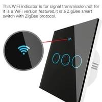 Interrupteur declairage intelligent Tuya Zigbee EU  sans fil  deux methodes de cablage  fonctionne avec Alexa Google Home  AC100-240v