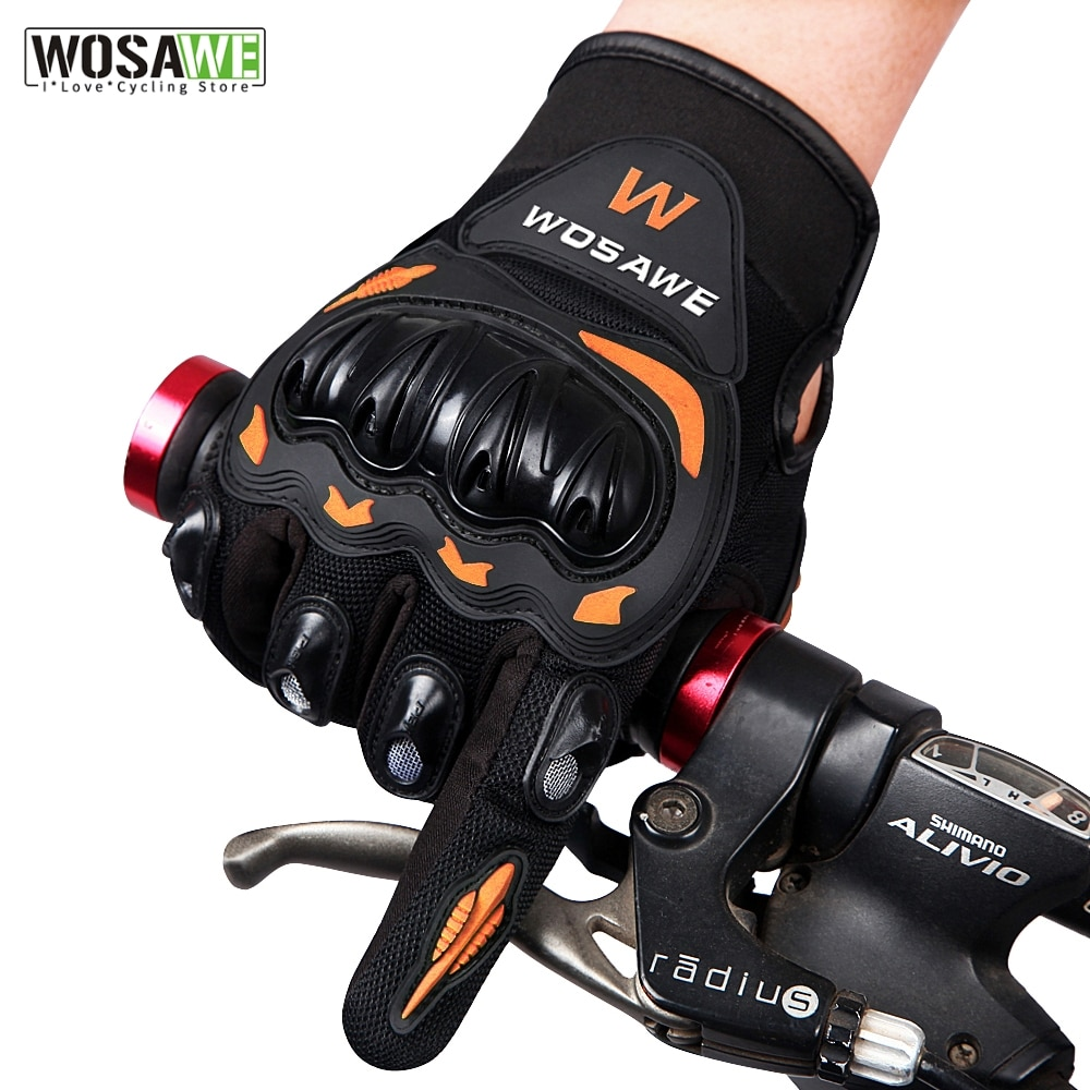WOSAWE Professional Full Finger Racing Guantes Motorcycle Gloves Motorbike Luva MTB Bike Cycling Moto Motocross Guantes Gloves