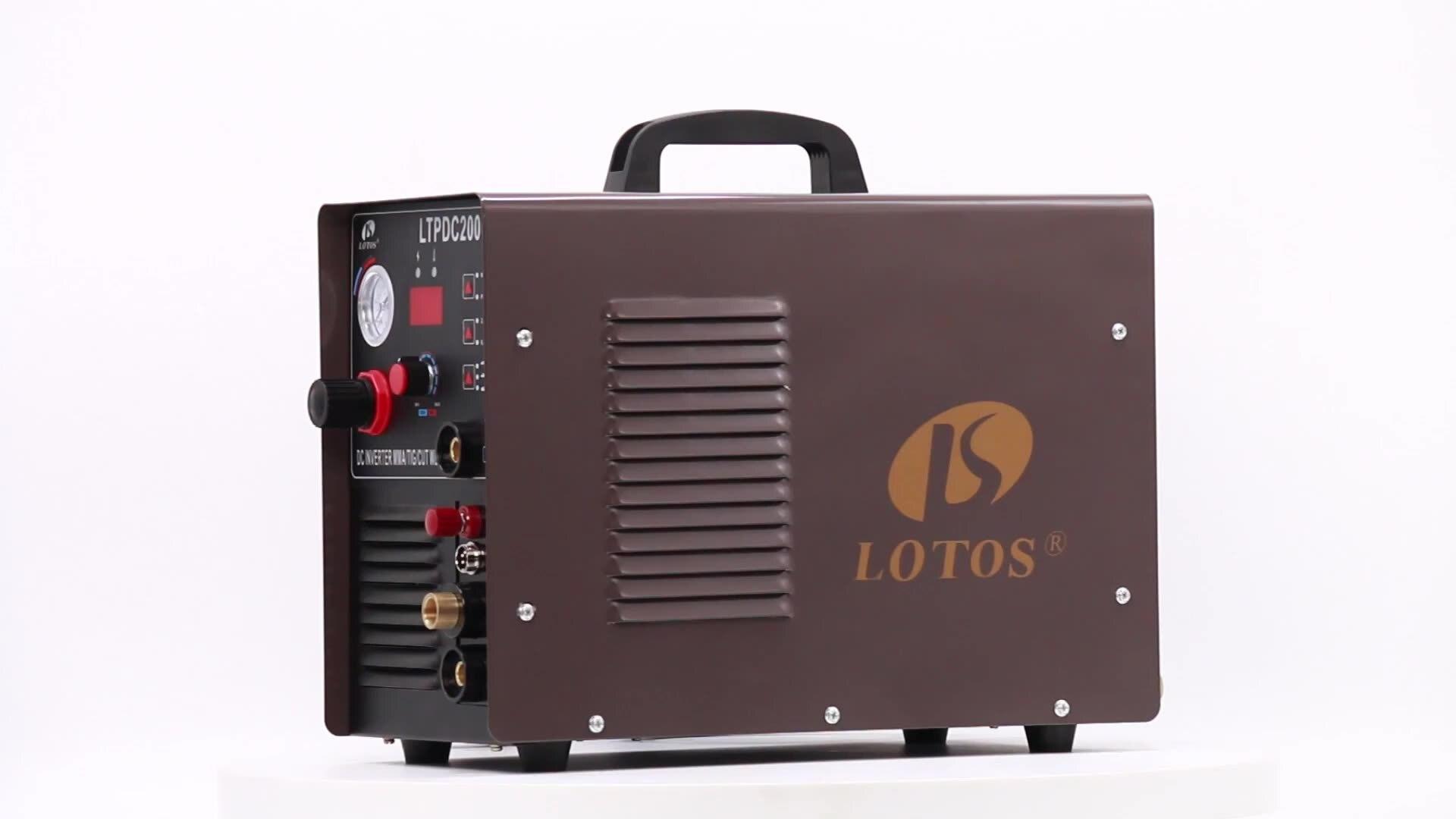 قاطع بلازما lotos LTPDC2000D 110/220 فولت مع آلة لحام متعددة الوظائف ذات عاكسات لحام ذات عاكسات/عصا 200A tig