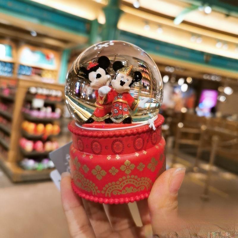 Disney Mickey Mouse Minnie Star Dailu Shirley May Cute Mini Car Center Console Crystal Ball Ornaments Car Decorations