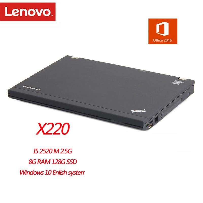 Lenovo-notebook thinkpad x220, restaurador de notebook, 4gb ram, 1280x800, win7 inglês, sistema de diagnóstico, tablet com escritório 2016