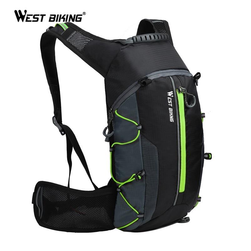 West biking bolsa de bicicleta portátil, ultraleve, à prova d água, esportiva, 10l, para atividades ao ar livre, trilhas, bolsa para ciclismo