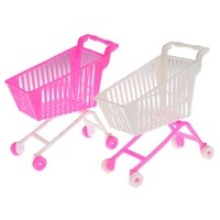 mini shopping cart toy doll accessories gifts for kids random color childrens toys