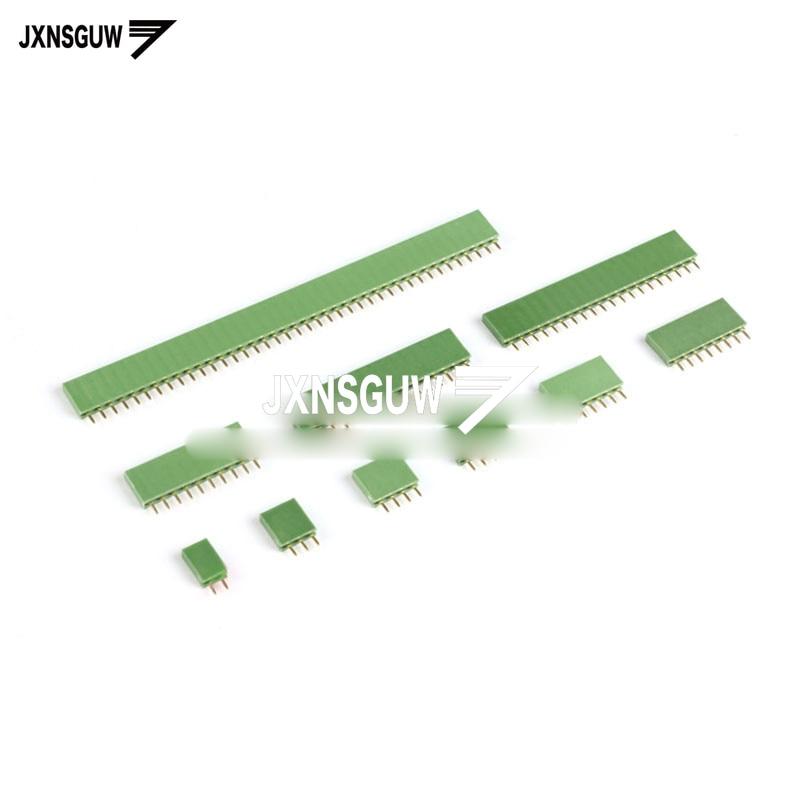 20 шт., зеленые однорядные вставки для сиденья, 2,54 мм, 1*2P 1*3P 1*4P 1*5P 1*6P 1*8P 1*10P 1*16P 1*20P 1*40P ���������������� 1 ��������������
