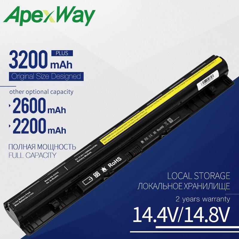 14,8 V batería para ordenador portátil, L12M4E01 L12M4A02 L12M4E01 L12S4A02 para LENOVO G400S G405S G410S G500S G505S G510S S410P S510P Z710 serie