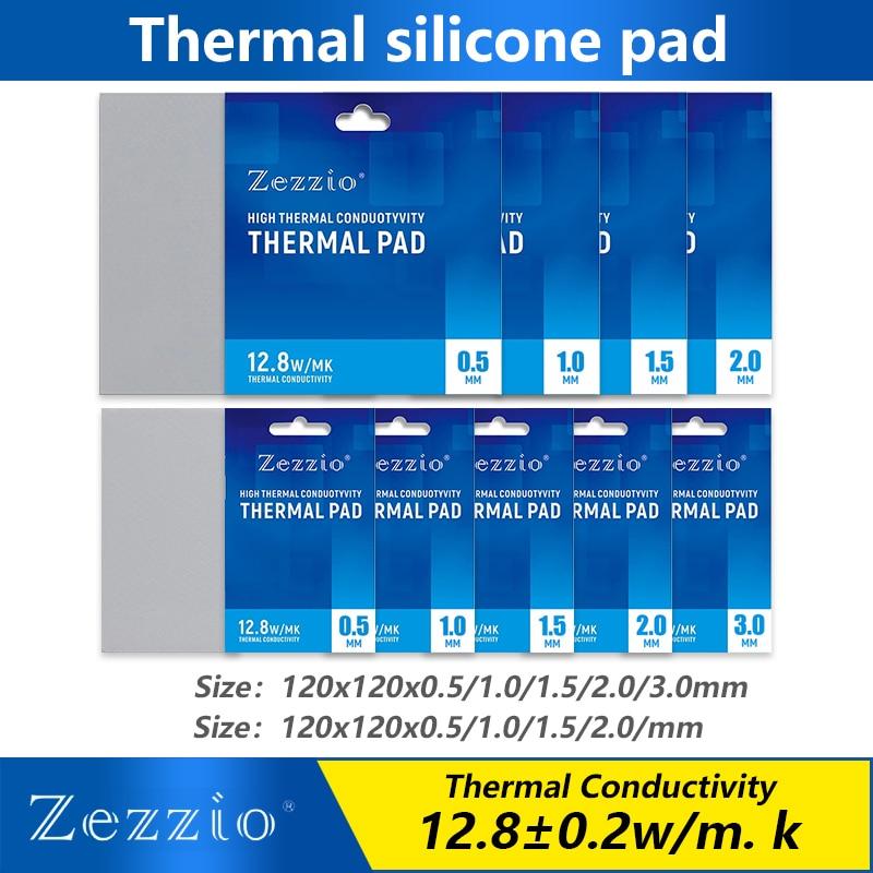 Термопрокладка Zezzio силиконовая для процессора/графической карты, мягкая теплоотводящая прокладка, силиконовая смазка для материнской пла...
