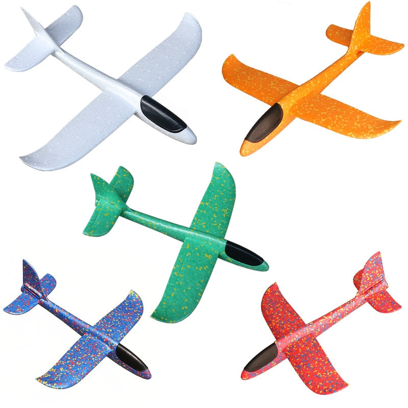 Airplane Model Hand-thrown 36 Cm Foam Double-hole Gliding Children's Toy